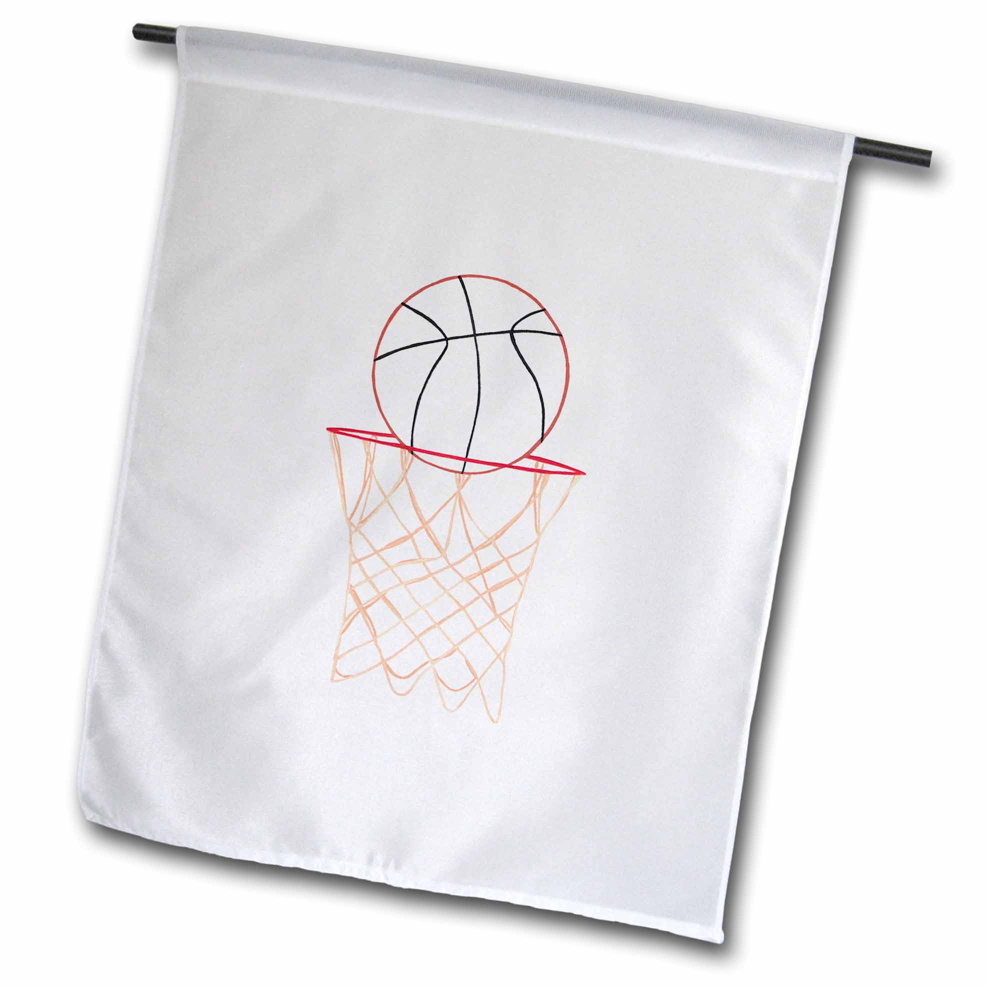 3drose Basketball Hoop Net Outline Art Drawing Garden Flag 12 By 18 Inch Walmart Com Walmart Com