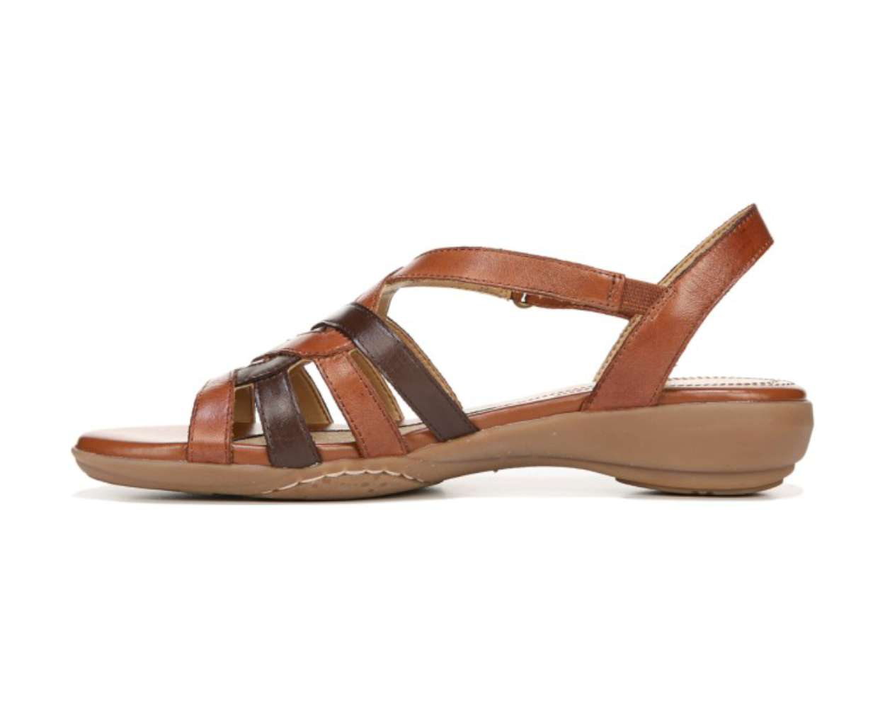 Naturalizer Womens Charm Leather Open Toe Casual Strappy Sandals by Naturalizer
