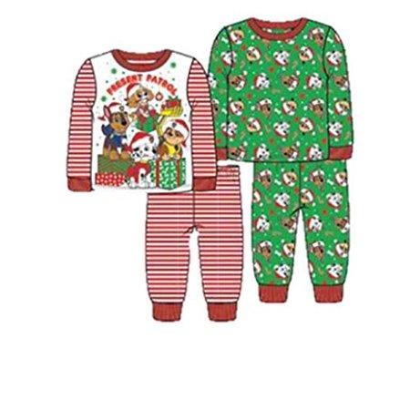 84f110a060 Nickelodeon - Nickelodeon Toddler Boys  Paw Patrol Holiday 4-Piece Cotton  Pajama Set