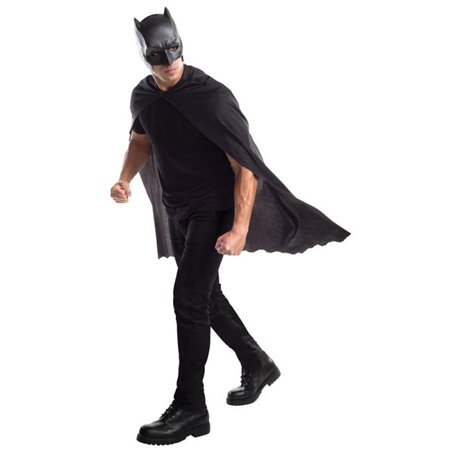 Morris Costumes RU32670 Doj Batman Adult Cape with Mask - Batman Cape And Mask For Adults