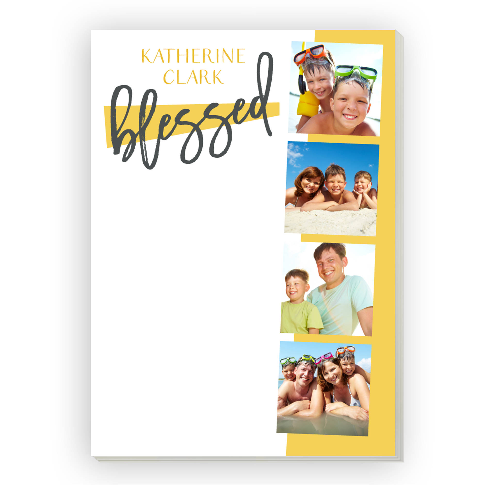 Modern Hello Personalized Notepad