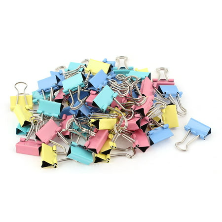Unique Bargains School Office Paper Document Organize 15mm Metal Bookbinding Binder Clips 60pcs