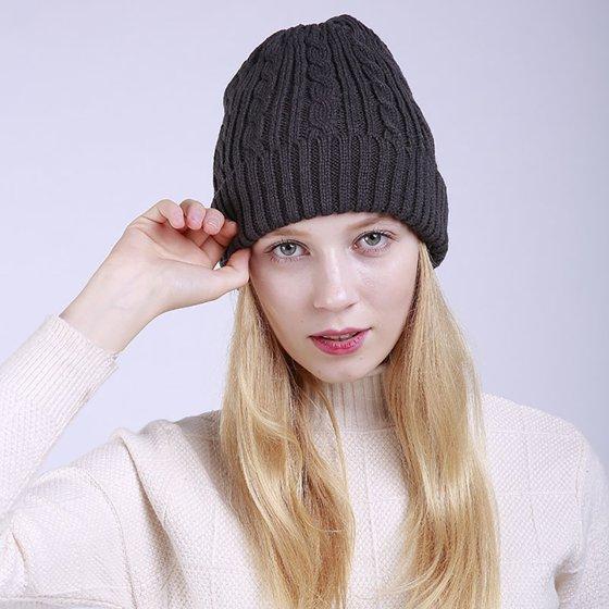Girl12Queen - Moderna Knitted Warm Solid Color Beanie Hat Outdoor Fashion  Women Winter Ski Skull Cap - Walmart.com ec56ec953da3