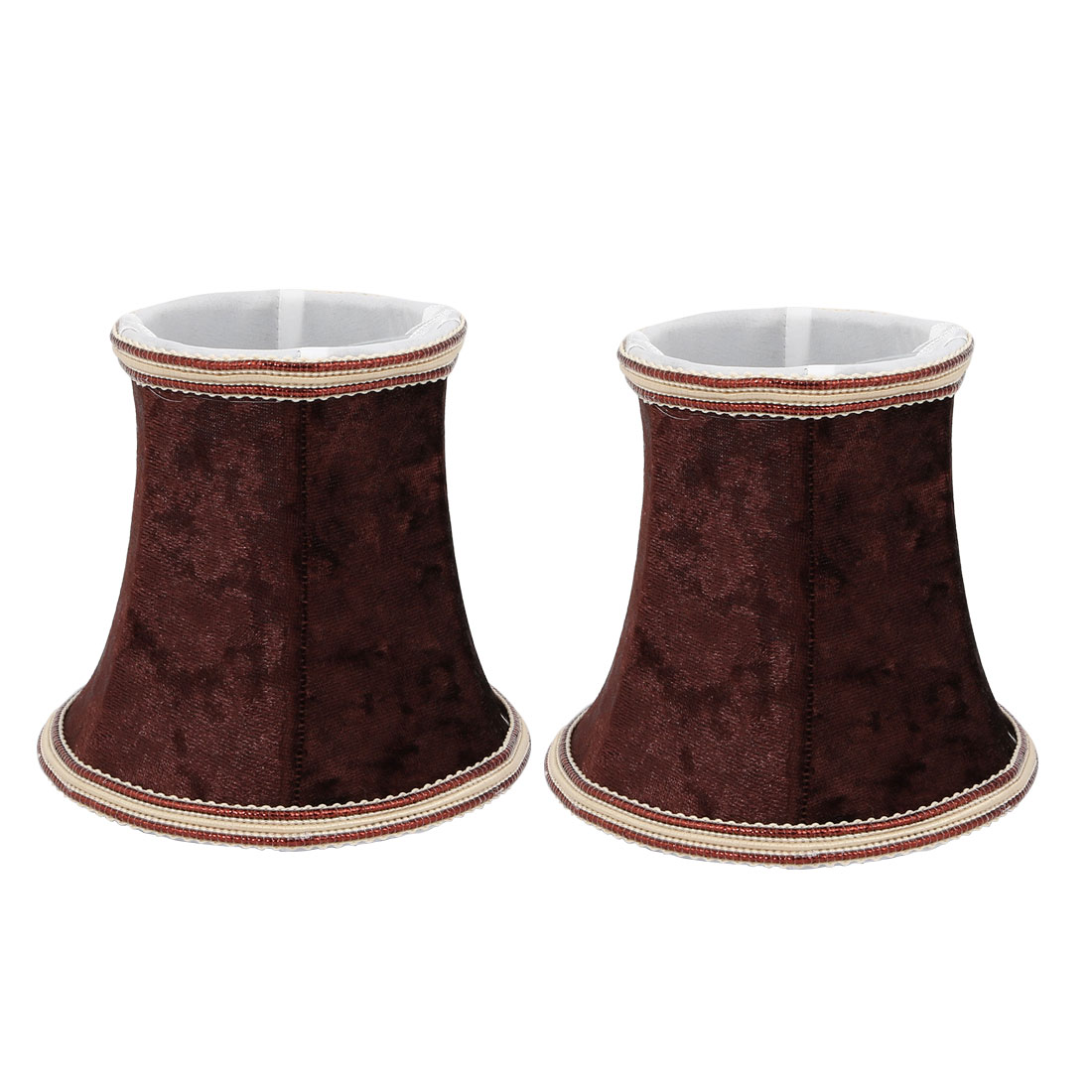 2pcs Wall Shade Small Bell Shape Chandelier Clip-On Lampshade Coffee by