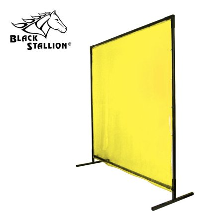 Black Stallion 6X8VF1-YEL 6x8 ft Yellow Saf-Vu Welding Screen with Frame