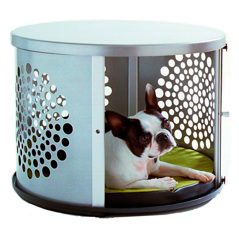 denhaus bowhaus modern dog furniture silver pet crate walmart com rh walmart com Furniture Looking Dog Crates Heated Dog Bed