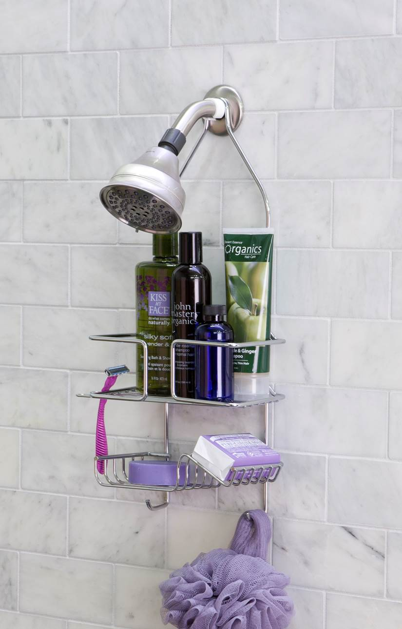 Panacea Deluxe Shower Caddy, Chrome by Panacea