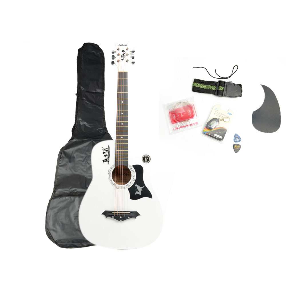 Ktaxon DK-38C Basswood Acoustic Guitar w/ Bag String Pick Tuner & Accessories