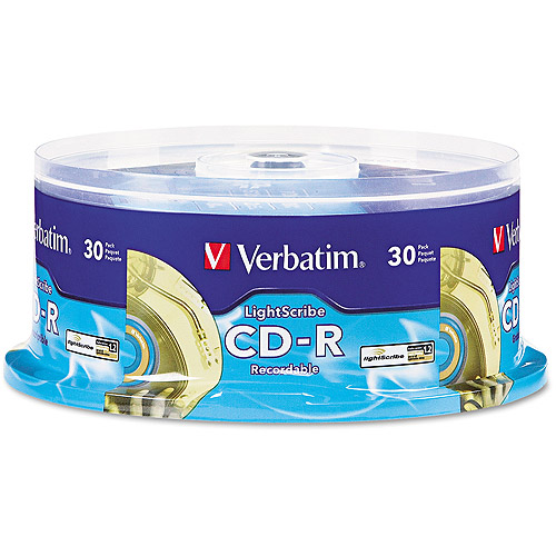 Verbatim 700MB 52X CD-R LightScribe 30 Packs Cake Box Disc