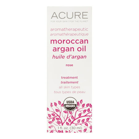 Image of Acure Aromatherapeutic Argan Oil, Rose, 1 Fl Oz
