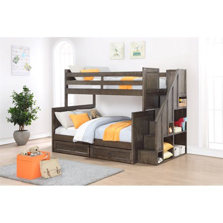 Building Blocks Ryan Twin Over Full Bunk Bed With Stairs