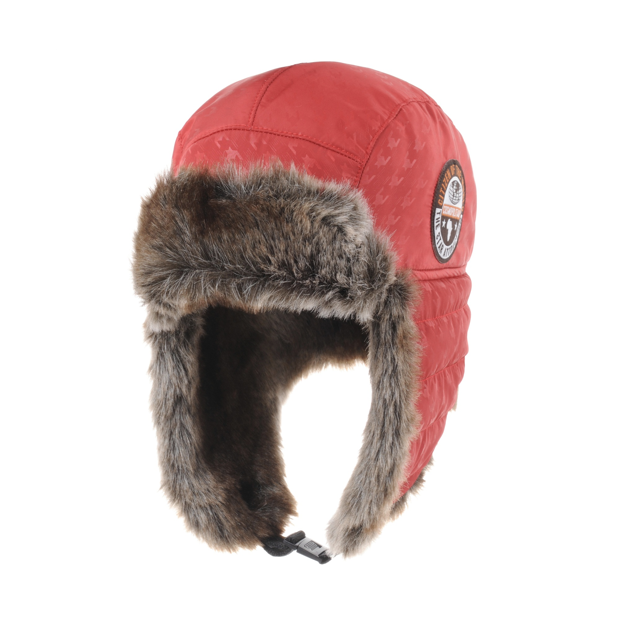 WITHMOONS Houndstooth Trapper Winter Trooper Hat Ear Flap Cap CR7161 (Red)