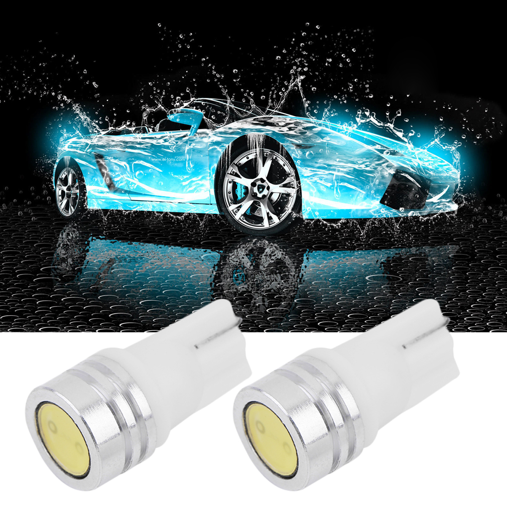 Professional 2 x White 1-SMD T10 LED INTERIOR Bulbs 12V Door Light Side Light Trunk Light with Long Lasting