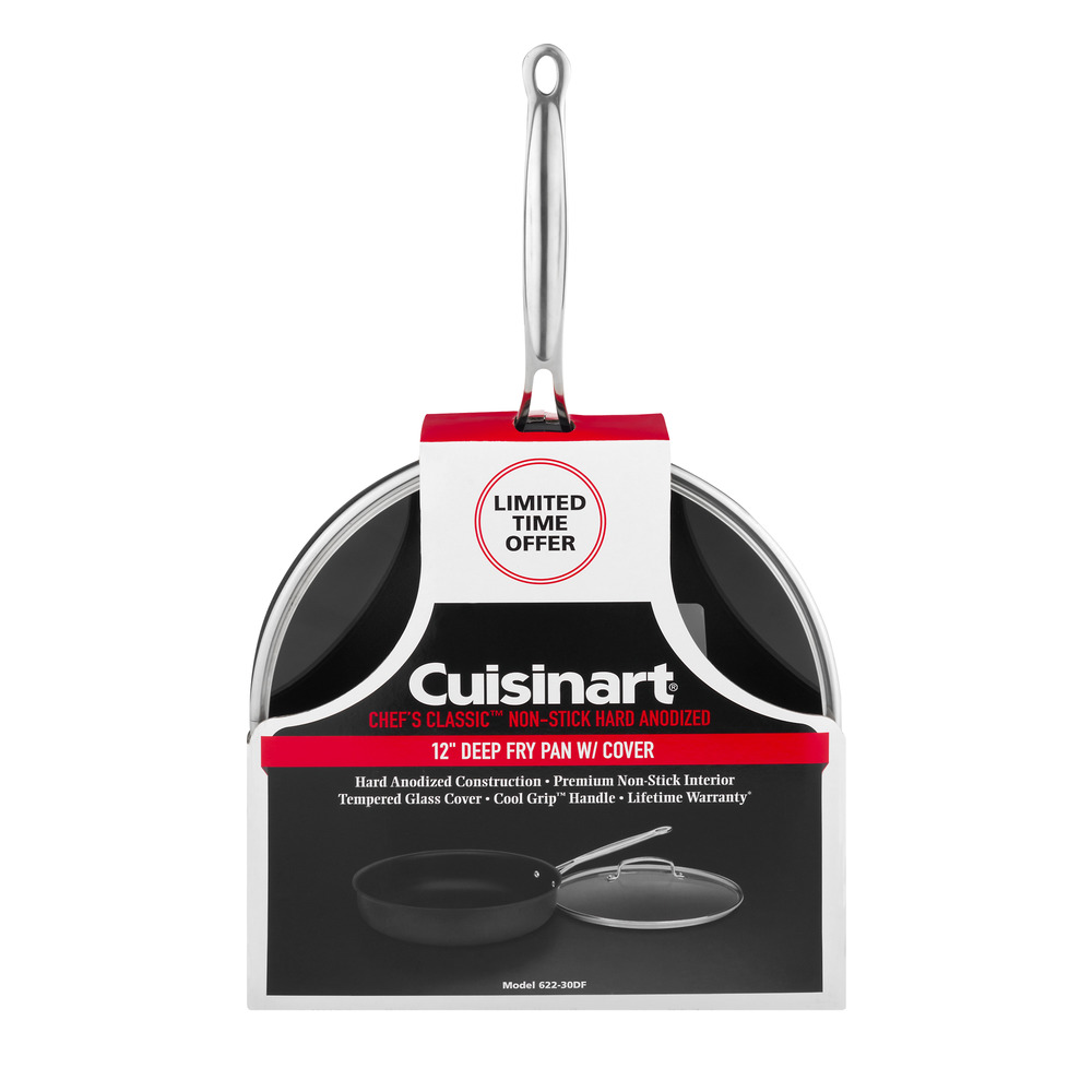 Cuisinart Chef's Classic Non-Stick Deep Fry Pan With Cover - 12 Inch Pan, 1.0 CT