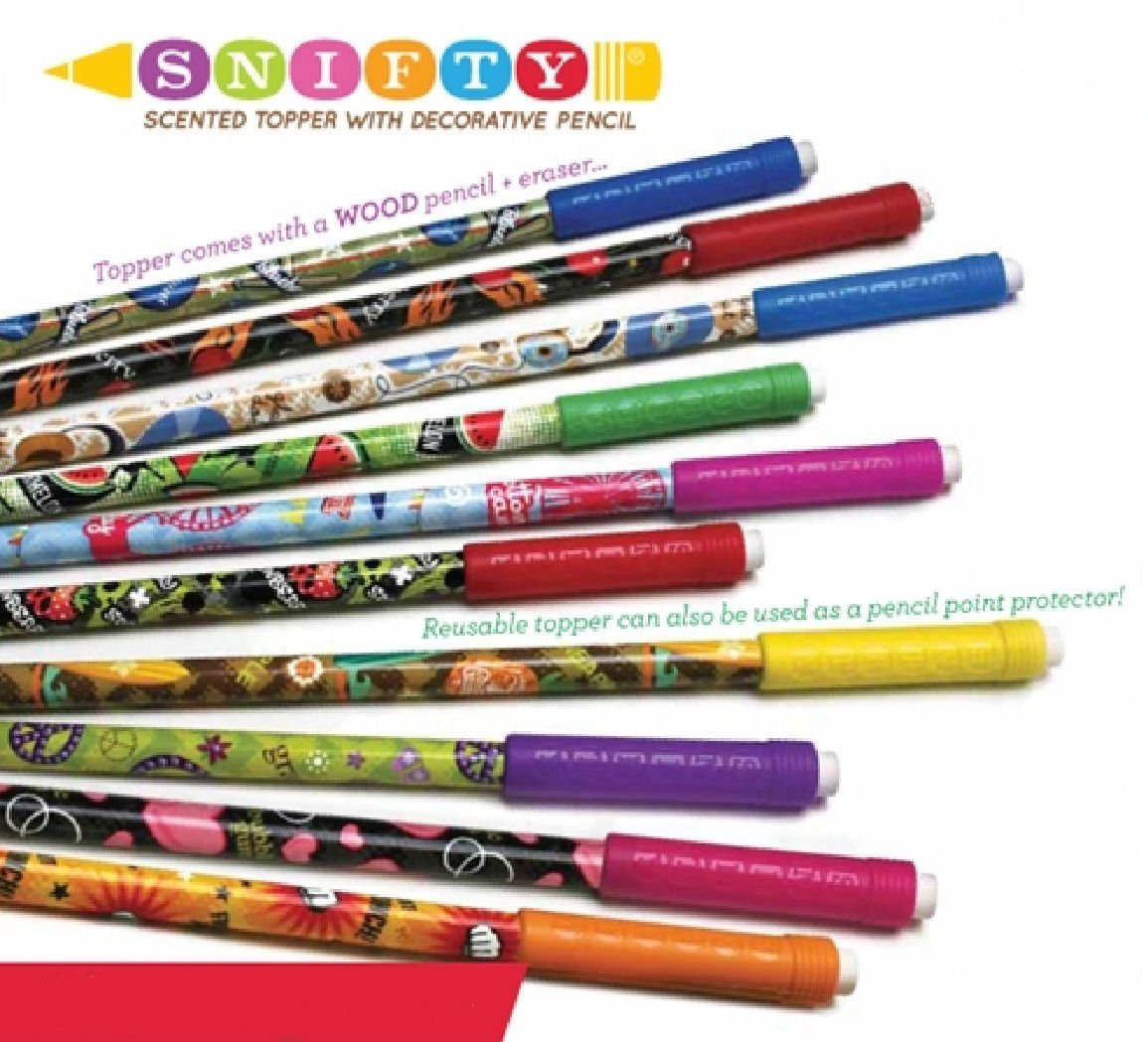 1 x Glazed Donut Scented Pencil - Supplied in a plastic tube for freshness, By Snifty Ship from US