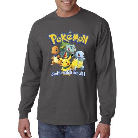 8a4d1a6d allwitty - 1118 - Unisex Long-Sleeve T-Shirt Pokemon Go Gotta Catch 'Em All  - Walmart.com