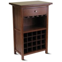Winsome Wood Chablis 20-Bottle Display Wine Cabinet, Walnut Finish