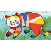 "I Painted The Cat...Counted Cross Stitch Kit-8.25""X4.75"" 14 Count, Pk 1, RTO"