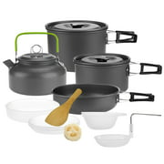 Camping Pan Pot Cookware Kit with Carry Bag for Picnic Backpacking Hiking