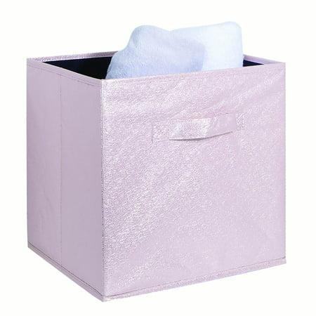 Simplify Nw Metallic Storage Box Cube 12X12 - Blush