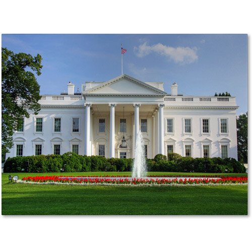 "Trademark Fine Art ""White House"" Canvas Art by CATeyes"