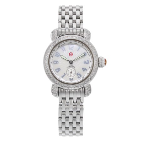 Pre-Owned Michele CSX Petite Mother of Pearl Dial Steel Quartz Ladies Watch...