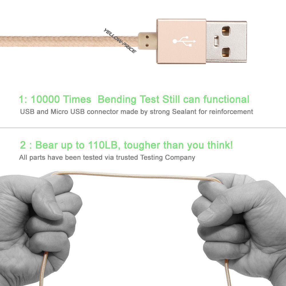 LIVEDITOR Original MFI Metal Braided Apple iPhone 6S Plus 5C Lightning USB Cable Charger - image 4 of 7