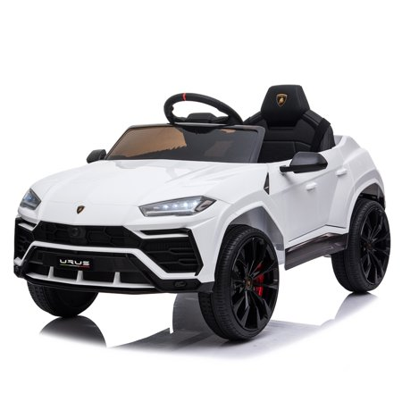 Small Lamborghini Dual Drive Kids Battery Powered car toy 35W*2 Battery 12V4.5Ah*1 2.4G Remote Control White