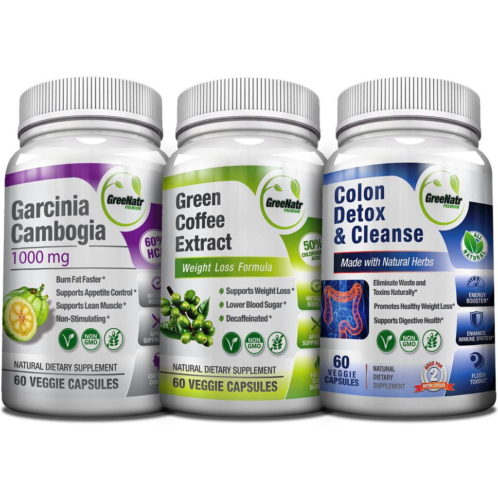 Greenatr 3x Weight Loss Bundle Pure Garcinia Cambogia Green