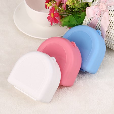 1Pc Denture Bath Appliance False Teeth Box Storage Case Rinsing Basket