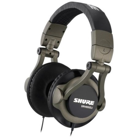 Brand New Shure | SRH550DJ, Ultra-Lightweight Design DJ Headphones, full-Range Audio Performance, 50 mm Dynamic Drivers, 90-Degree Swivel Ear Cups, Legendary Shure quality ()