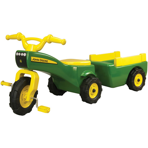 TOMY John Deere Pedal Tractor And Wagon | Ride-on Toy Takes Toy Trike to the Next Level | Outdoor Fun For Toddler Boys and Girls | Inspire Creative Play with this Farm Toy