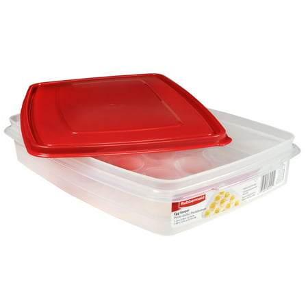 Rubbermaid Red Brilliance Egg Food Storage Container
