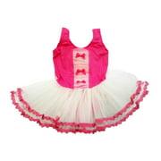 Hot Pink White 3 Bow Tutu Ballet Dress Girl S