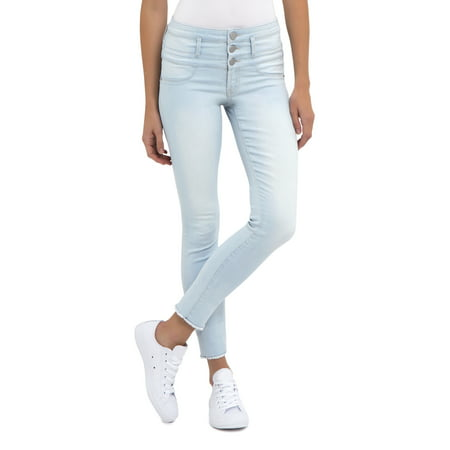 Juniors' No Boundaries Triple Stack Ankle Wide Cuff Crop Jeans