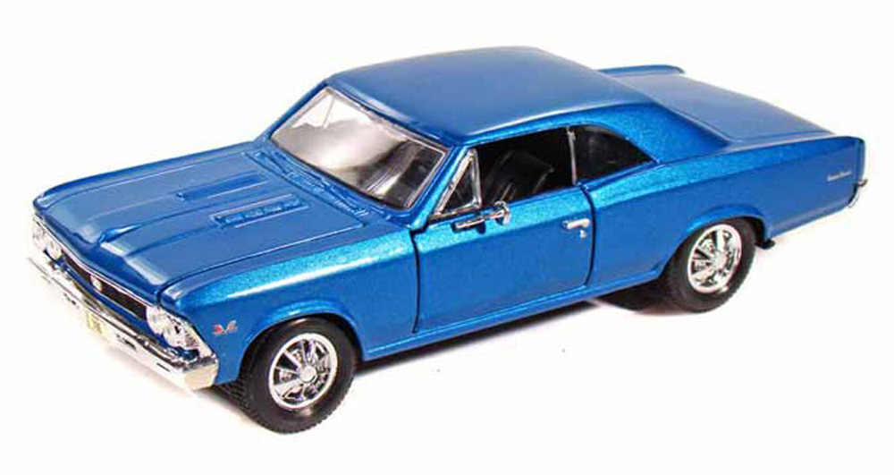 1966 Chevy Chevelle SS396, Blue Maisto 31960 1 24 Scale Diecast Model Toy Car by Maisto