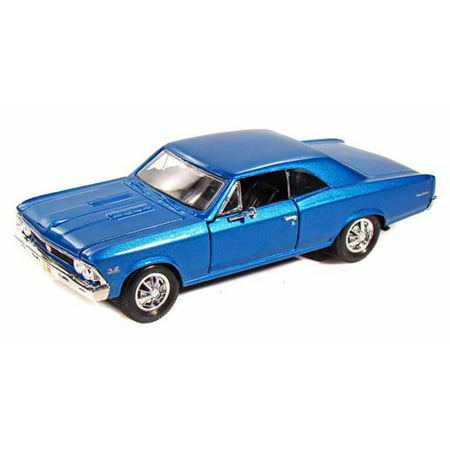 1966 Chevy Chevelle SS396, Blue - Maisto 31960 - 1/24 Scale Diecast Model Toy Car Maisto Toy Cars