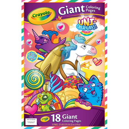Crayola Uni Creatures 18 Count Giant Coloring Pages Walmart Com