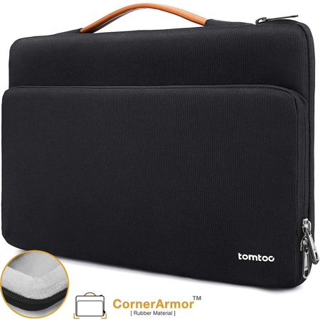 tomtoc 360 Protective Laptop Carrying Case for 15 inch New MacBook Pro with Touch Bar A1990 A1707, Acer HP Dell Chromebook 14, 14 inch ThinkPad X1 Yoga (1-4th Gen) and T-Series, Notebook Bag 01 Notebook Case