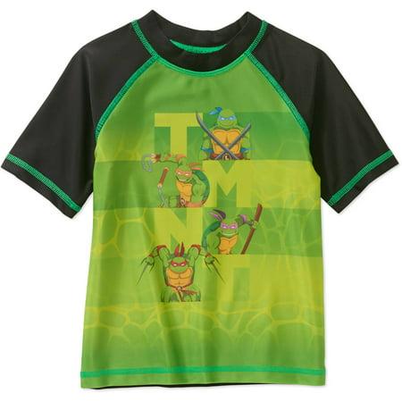 Teenage Mutant Ninja Turtles Short Sleeve Swimwear Rashguard Swim Top (Toddler Boys)