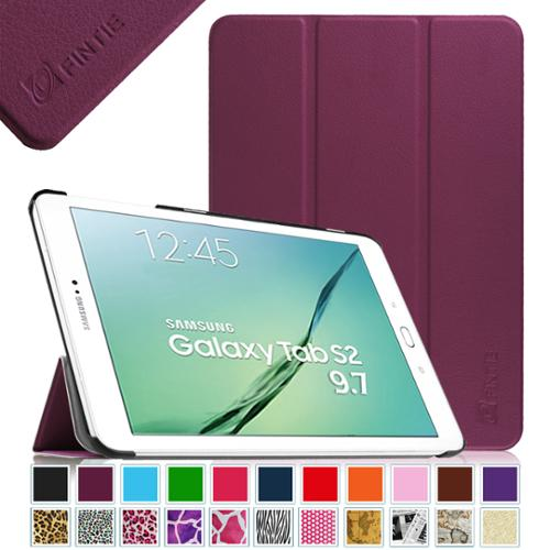 Fintie Samsung Galaxy Tab S2 9.7 Inch Tablet Case - Ultra Slim Lightweight Stand Cover with Auto Sleep/Wake, Purple