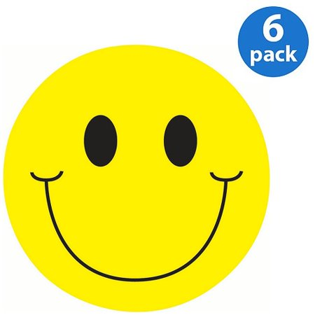 (6 Pack) Ashley, ASH10215, Smiley Face Magnet Clip, 1 Each, Yellow