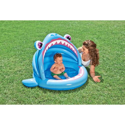 """Intex 53"""" x 39"""" Blue Shark Kiddie Swimming Pool"""