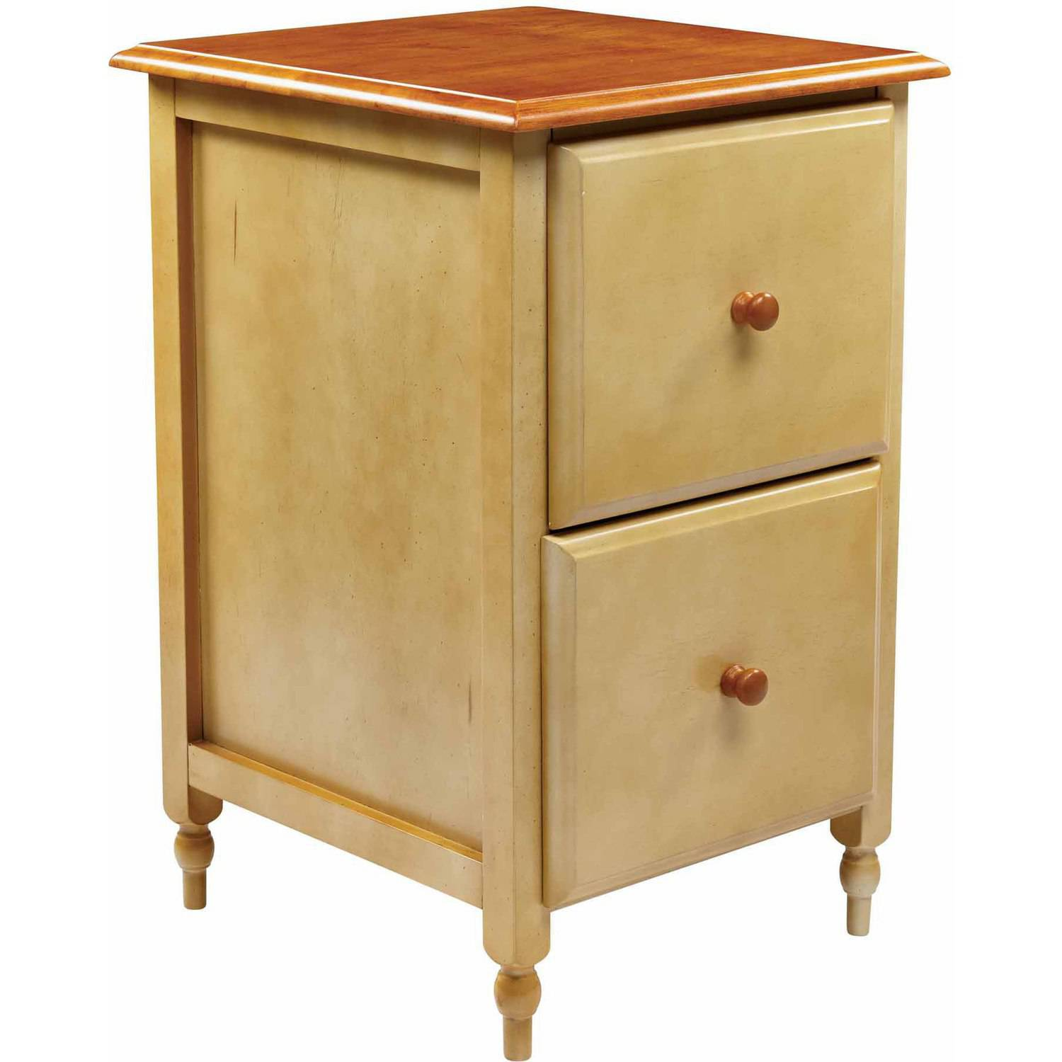 OSP Design File Cabinet, Country Cottage Buttermilk and Cherry Finish