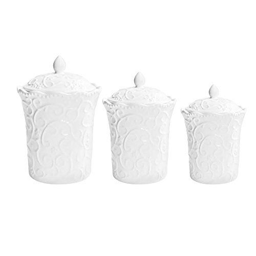 Jay Import Bianca Scrolls 3 Piece Canister Set