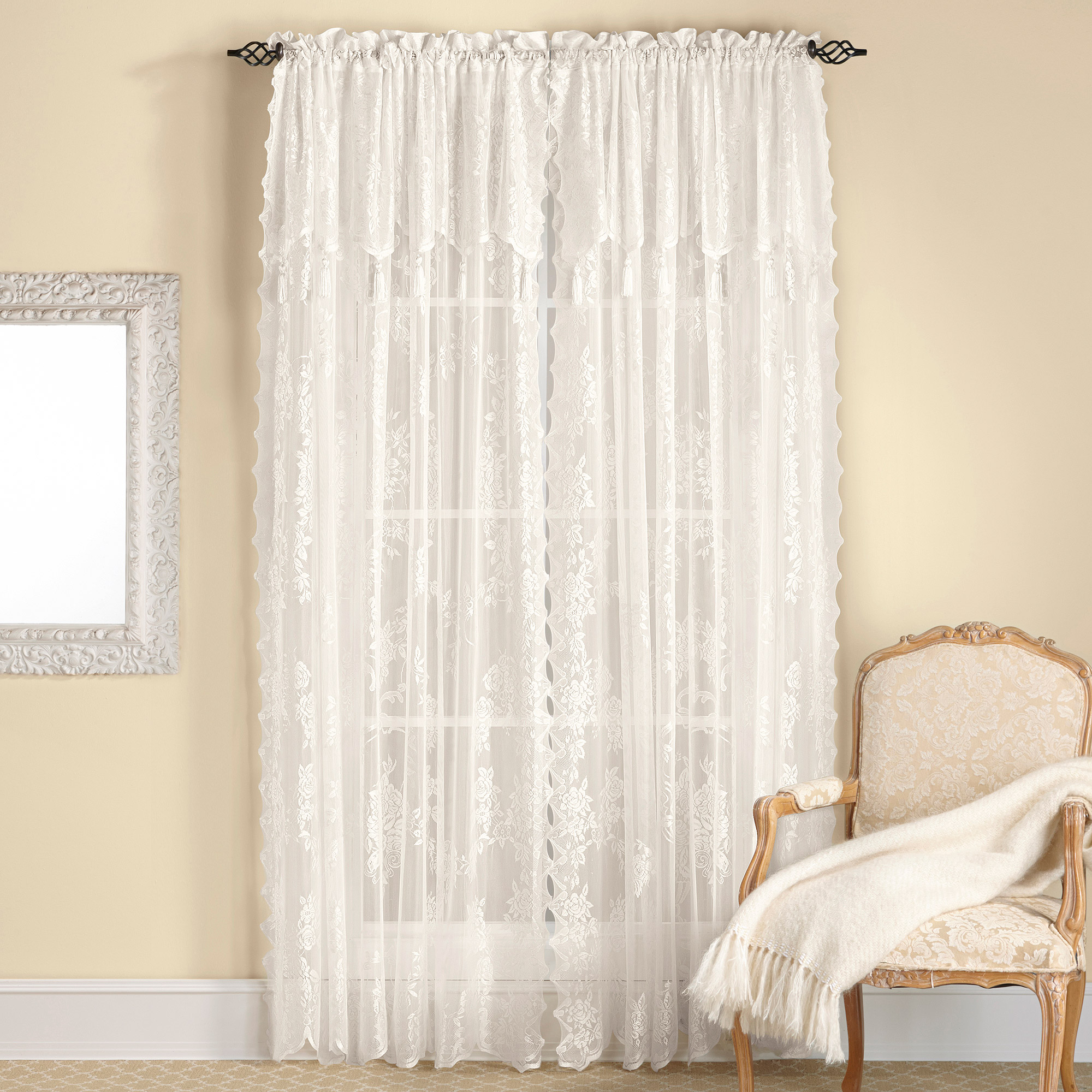 the lace easy fold windows valance antique ideas treatments prairie valances side sew no window three for view homestead