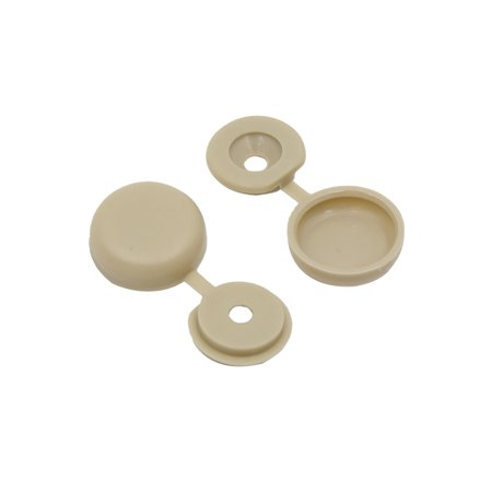 50pcs Khaki Hinged Plastic Clips Screw Fold Caps Cover 4mm for Auto Car Decor - image 2 of 2