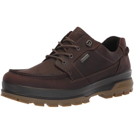 ECCO Men's Rugged Track Gore-tex Moc Tie Hiking Shoe Mocha (Educo Track)