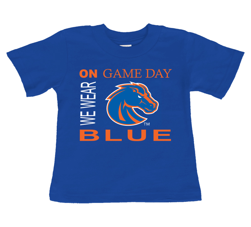 Boise State Bronco On Game Day Baby/Toddler T-Shirt
