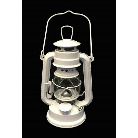 White Hanging Lantern Elegant Wedding Light Table Centerpiece Lamp - 8 Inches